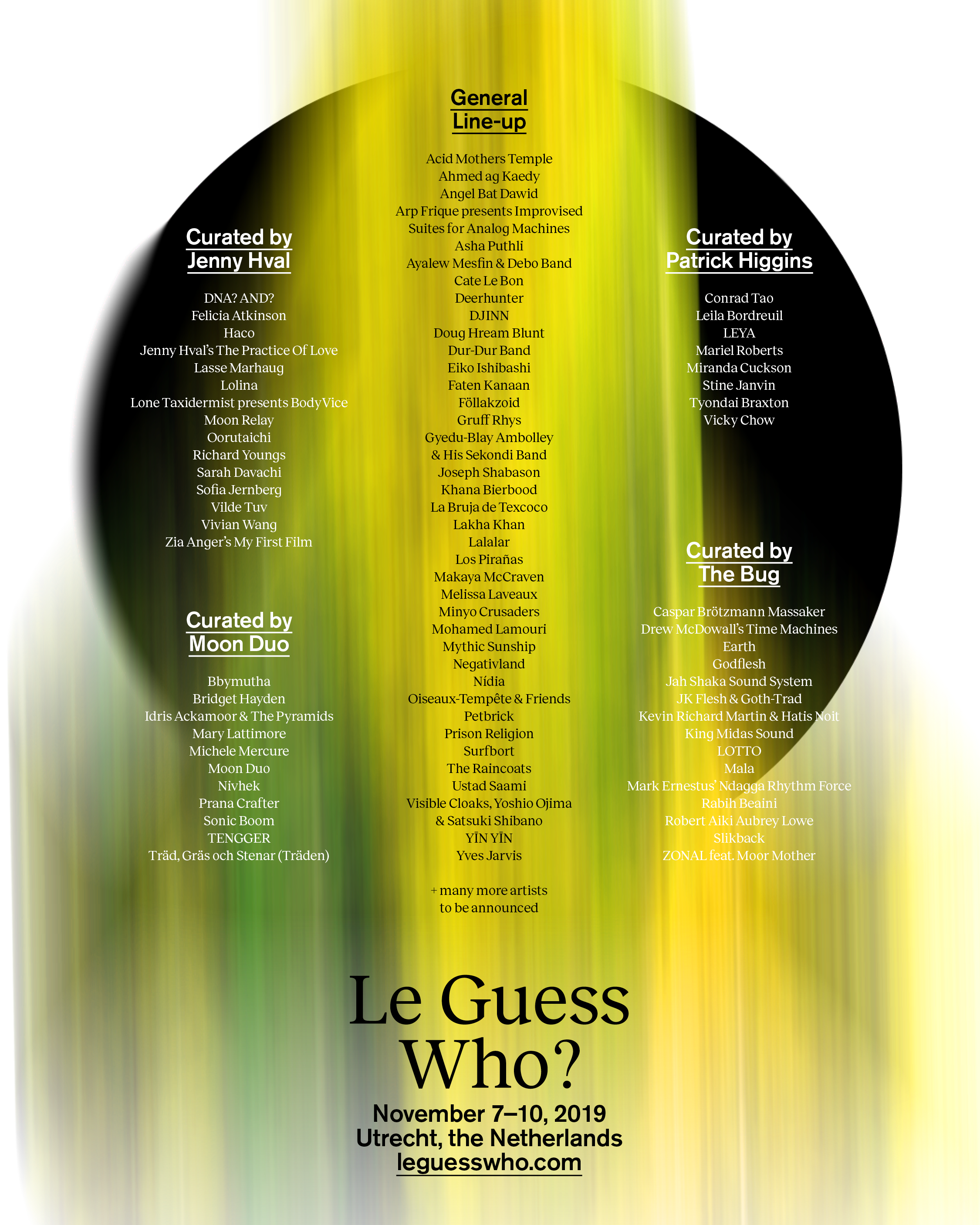 Revealing the initial line-up for Le Guess Who? 2019