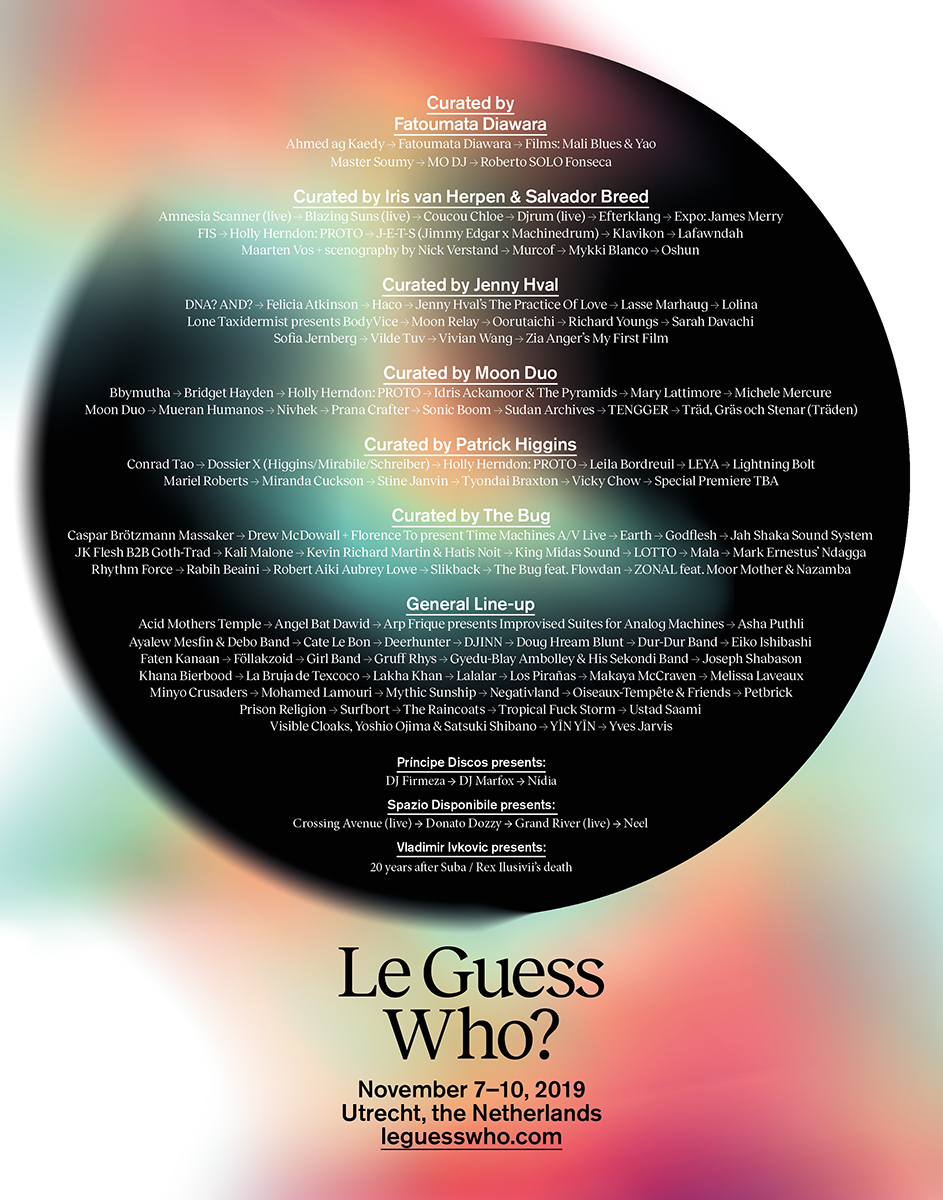 Full curated programs + various special projects announced for Le Guess Who? 2019
