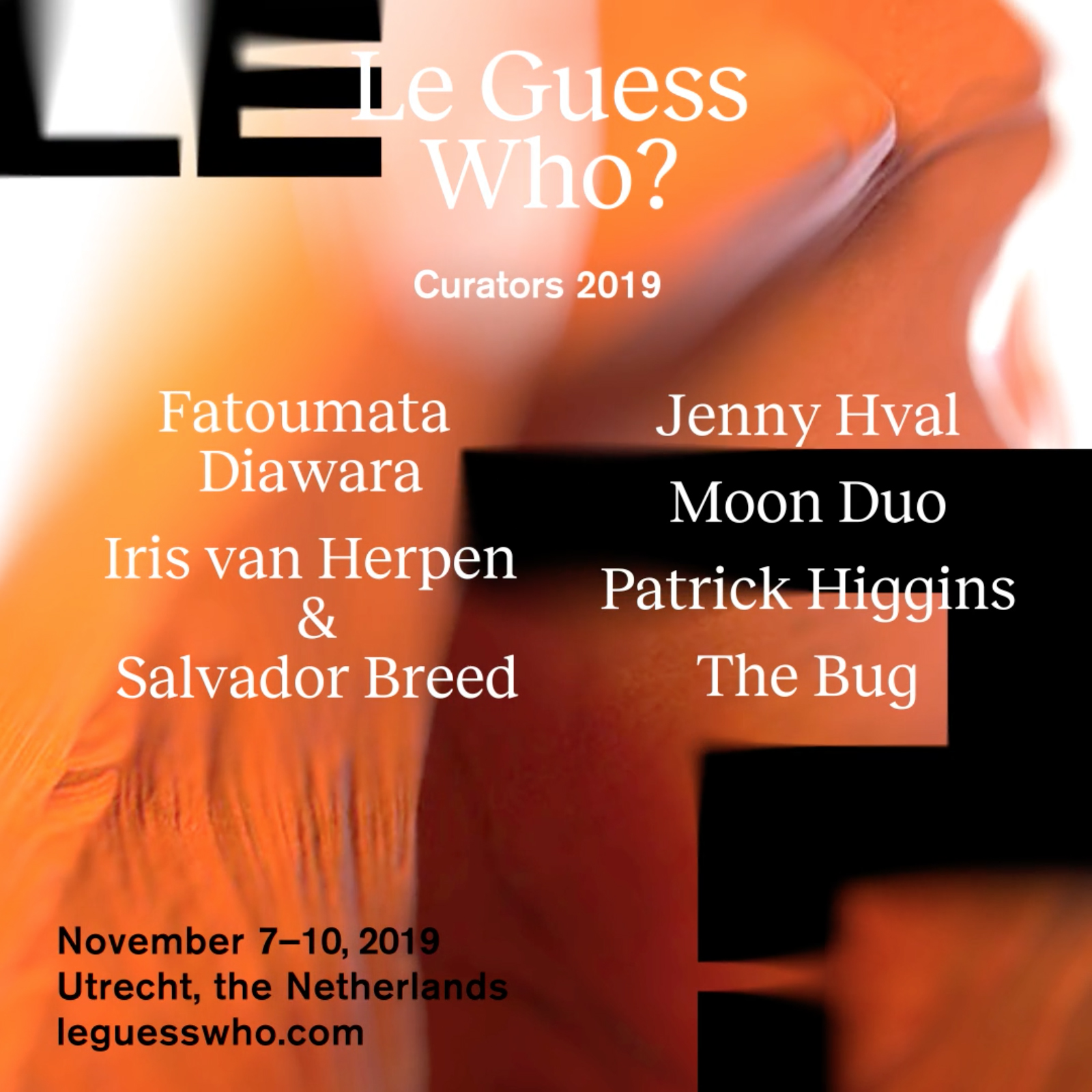 Revealing the guest curators for Le Guess Who? 2019